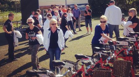 Cykelaktivitet på konferensen med Gotländska Möten