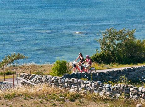 Så mycket Gotland cykelaktivitet Visby Fårö